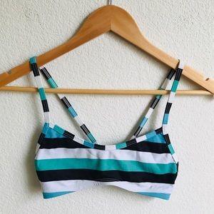 JOLYN Striped bikini top Small